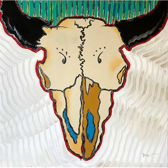 Bison Skull #4 Original Painting