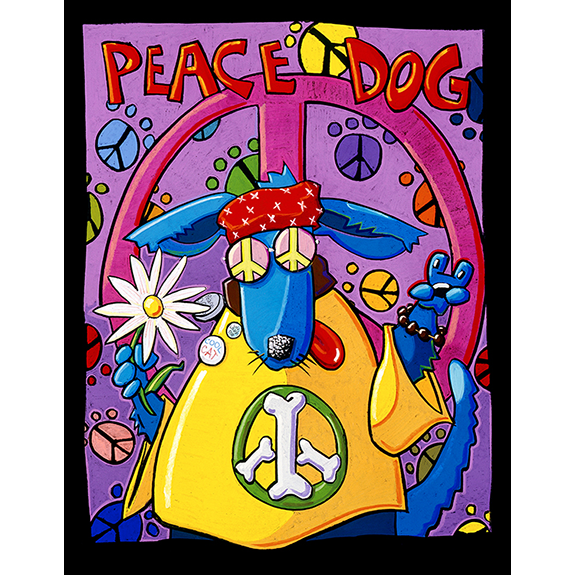 Peace Dog Original Painting